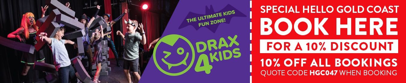Dracula's Drax4Kids discount with Hello Brisbane