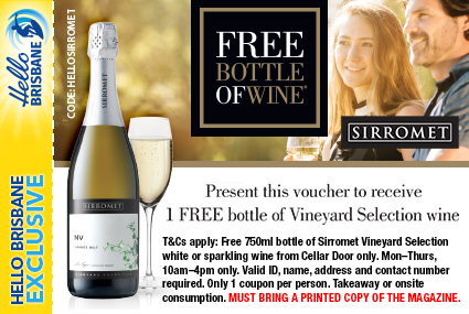 Discount Coupon –Sirromet Winery