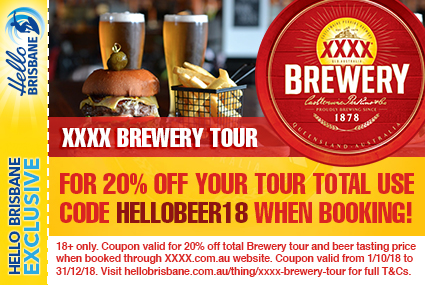 Discount Coupon – XXXX Brewery Tour