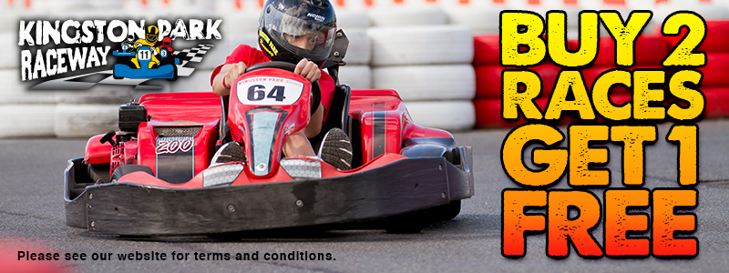 Buy 2 Get 1 Free at Kingston Park Raceway Go Karting
