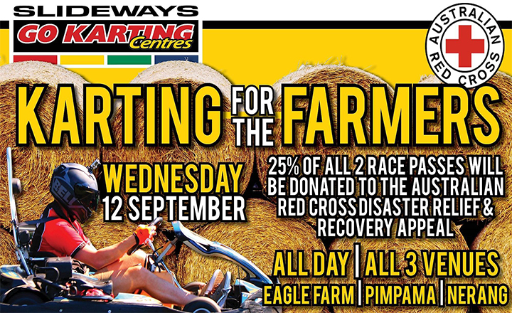 Karting for the Farmers at Slideways Go Karting